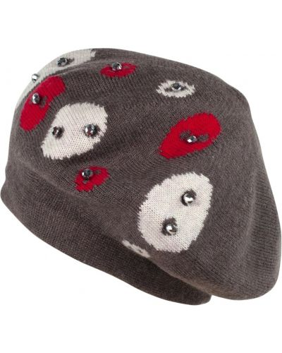 Beżowy beret wełniany Art Of Polo
