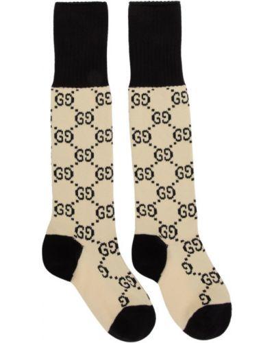 Czarne wysoki skarpety bawełniane Gucci