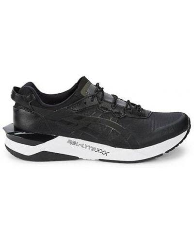 Кожаные белые кроссовки на шнурках Asics