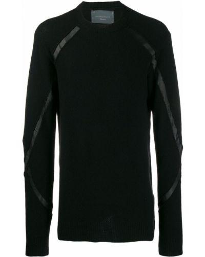 Приталенный черный свитер 10sei0otto