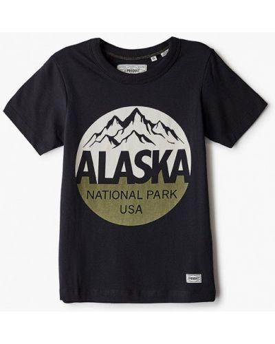С рукавами черная футболка Produkt