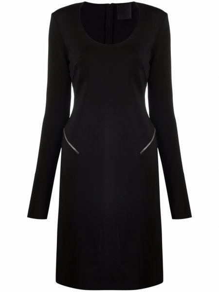Sukienka midi z wiskozy - czarna Givenchy