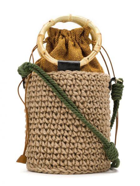 Коричневая соломенная сумка Isla