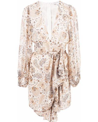 Платье мини с декольте с цветочным принтом Shona Joy