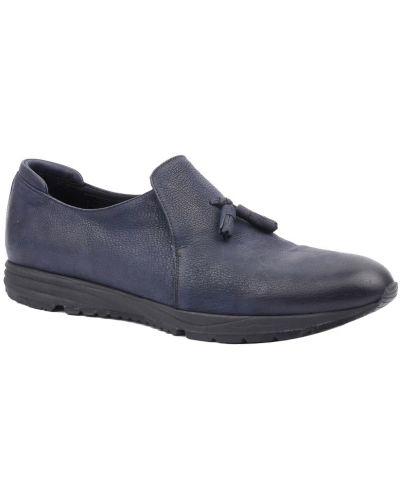 Синие туфли из нубука Armani Collezioni