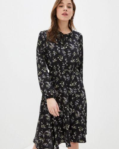 Прямое черное платье А-силуэта Froggi