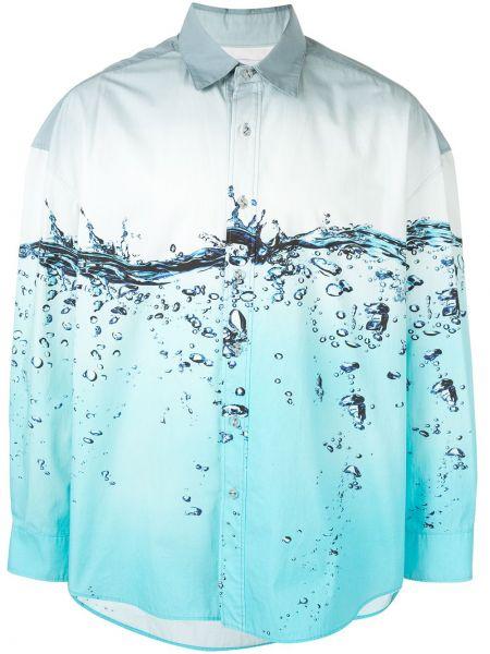 Классическая прямая рубашка с воротником на пуговицах Yoshiokubo