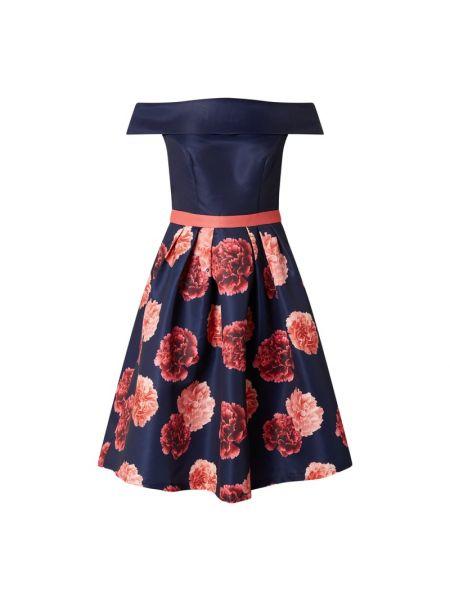 Sukienka koktajlowa - niebieska Chi Chi London
