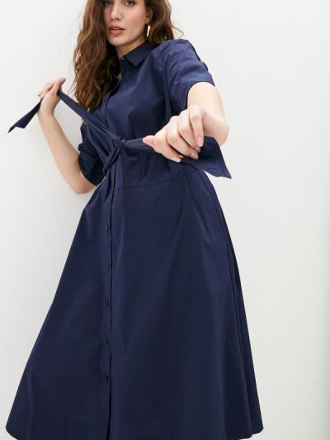 Синее платье-рубашка Lauren Ralph Lauren Woman