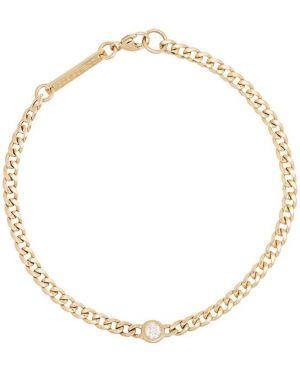 С ромбами золотой браслет металлический с бриллиантом золотой Zoë Chicco