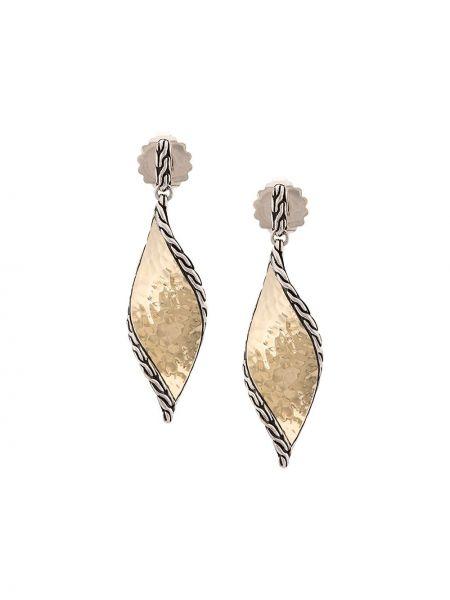 Серебряные серебряные серьги с бабочкой John Hardy