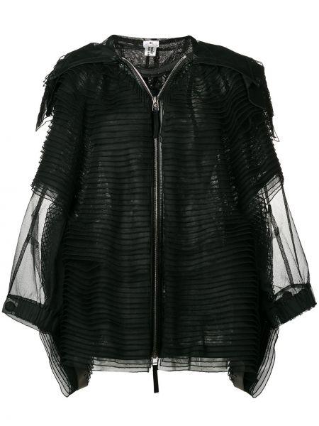 Черная кожаная куртка с капюшоном Comme Des Garçons Noir Kei Ninomiya