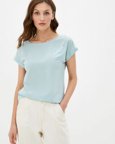 Бирюзовая с рукавами блузка Ruxara