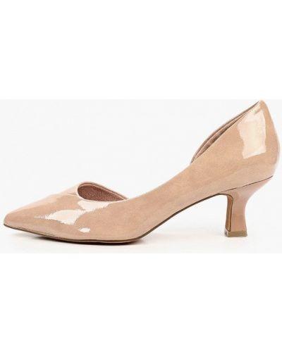 Лаковые кожаные розовые туфли Marco Tozzi