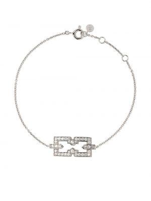 Skórzany bransoletka ze złota z diamentem Raphaele Canot