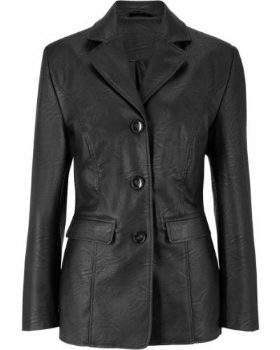 Кожаный пиджак - черный Bonprix