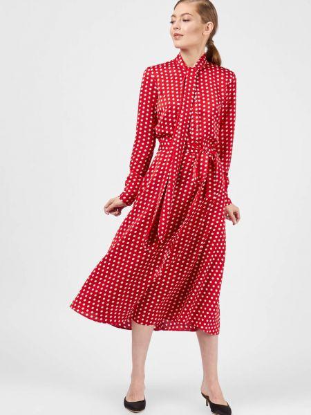 Платье миди в горошек с бантом 12storeez