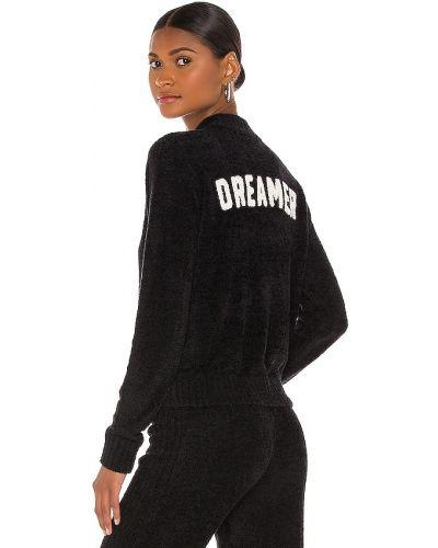 Prążkowany czarny sweter z wiskozy Spiritual Gangster
