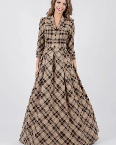 Платье макси осеннее Olivegrey