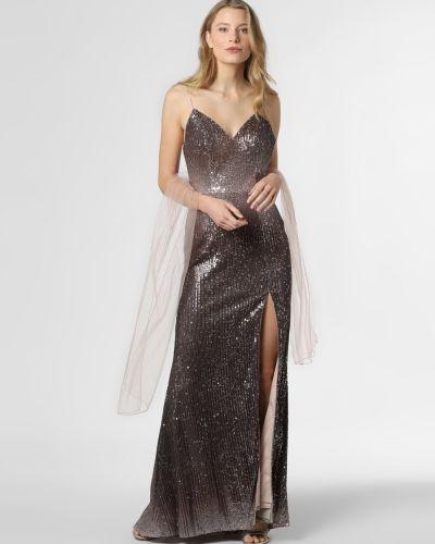 Brązowa sukienka tiulowa Unique