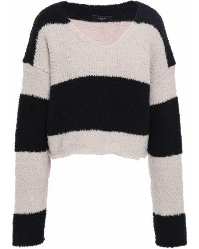 Черный свитер в полоску Amiri