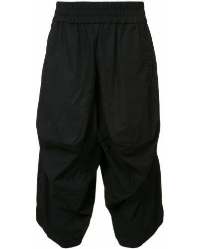 Черные укороченные брюки пэчворк Private Stock