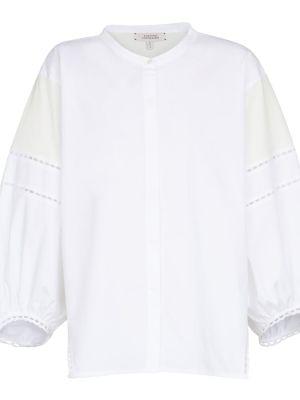Biała bluzka koronkowa bawełniana Dorothee Schumacher