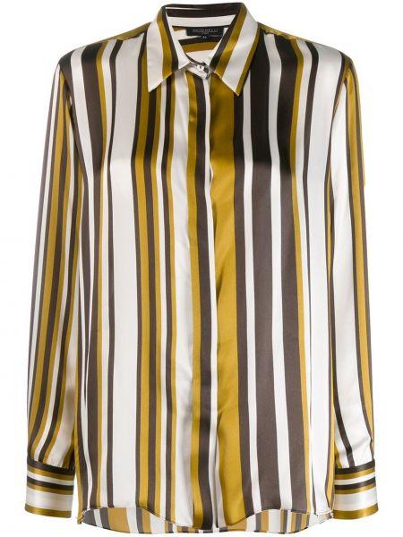 Рубашка с длинным рукавом в полоску без воротника Antonelli