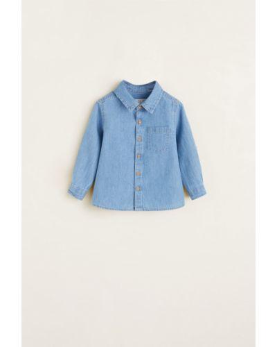 Рубашка синий Mango Kids