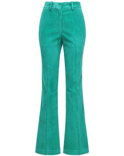 Брюки вельветовые - зеленые Victoria Beckham