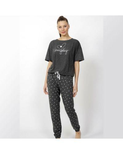 Пижама со штанами - серая Vienetta