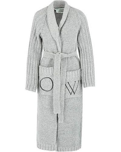 С рукавами ватная длинная куртка с воротником Off-white