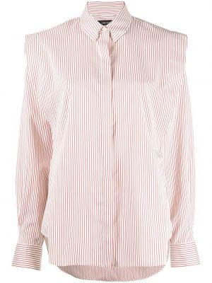 Шелковая с рукавами белая классическая рубашка Isabel Marant