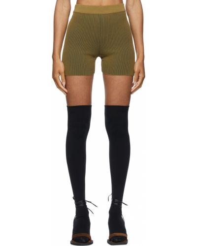 Короткие шорты хаки Jacquemus