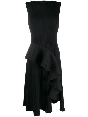 Черное платье миди с вырезом без рукавов Off-white