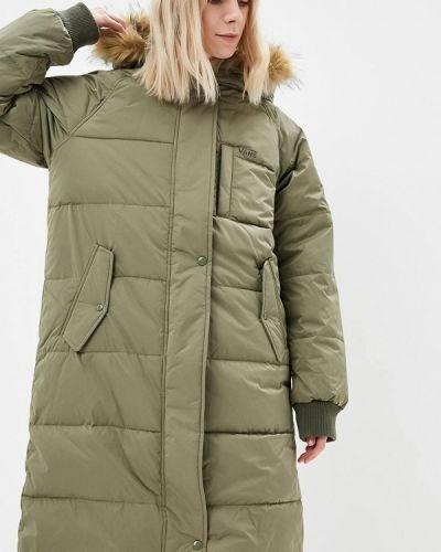 Утепленная куртка осенняя зеленая Vans