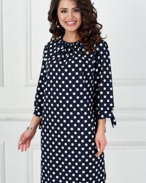 Шифоновое платье с манжетами с вырезом с завязками Bellovera