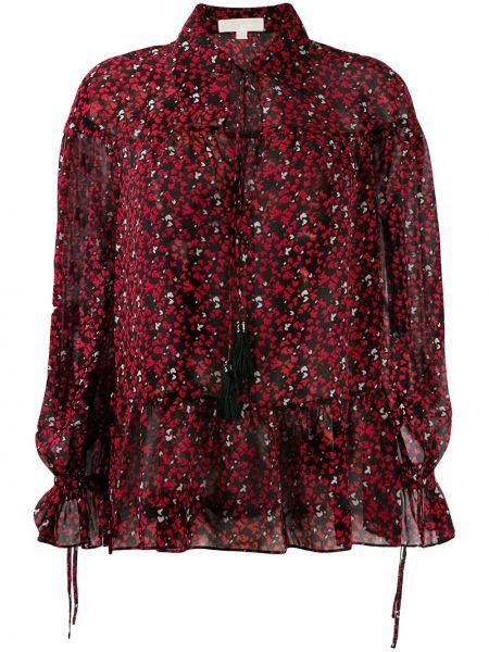 Блузка с длинным рукавом с завязками с разрезом Michael Kors Collection