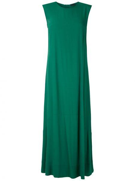 Брендовое зеленое платье без рукавов Osklen