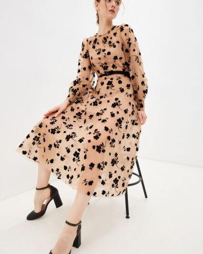 Бежевое зимнее вечернее платье Rich & Naked