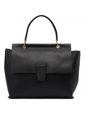 Черная кожаная сумка Gianni Chiarini