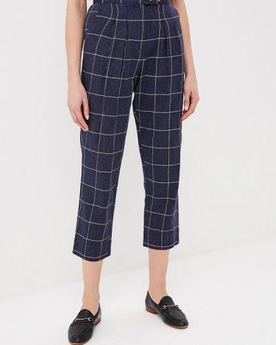 Синие брюки прямые Topshop