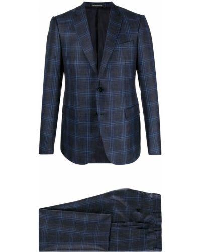 Lniany garnitur - czarny Emporio Armani