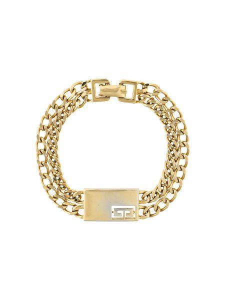 Желтый браслет металлический винтажный Givenchy Pre-owned