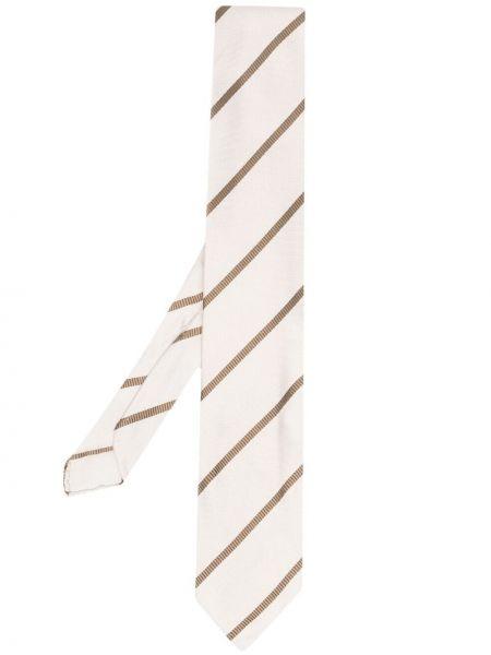 Brązowy krawat z jedwabiu Lardini