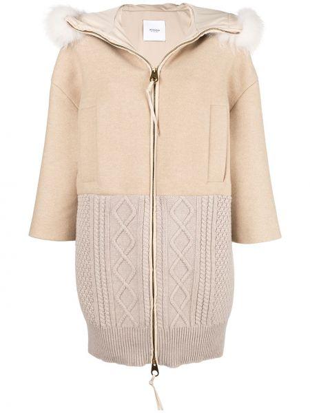 Кашемировое пальто с капюшоном на молнии Agnona