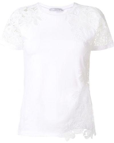 Хлопковая белая футболка с вырезом Ermanno Scervino