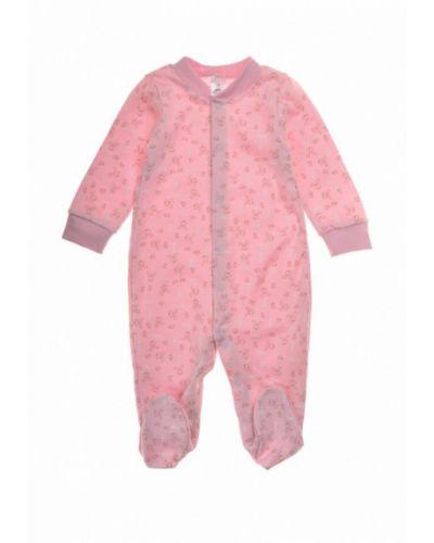 Розовые ползунки фламинго текстиль