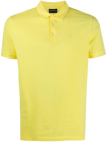 Koszula krótkie z krótkim rękawem klasyczna żółty Emporio Armani