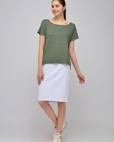 Трикотажная блузка с короткими рукавами для офиса Viserdi